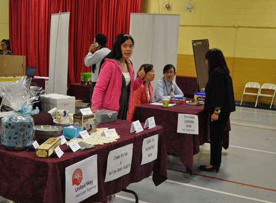 CICS fundraising booth